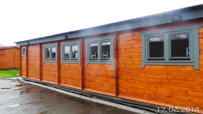Commercial Log Cabin Office Outside Front 2
